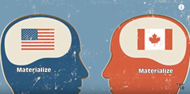 Capture diffé entre canada et ameri