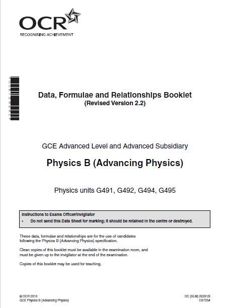 All physics formulas Advancing Physics