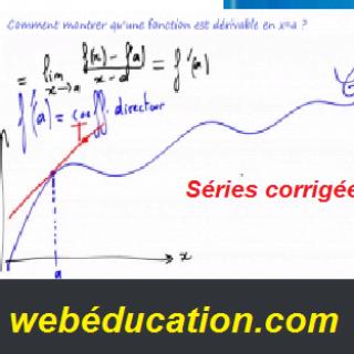 Séries d'exercices corrigés dérivabilité pdf
