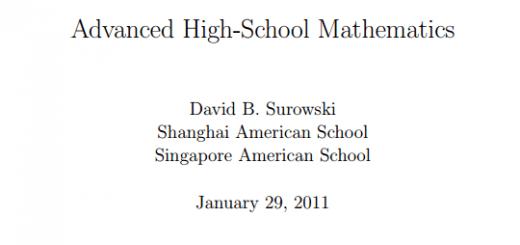 advanced-high-school-mathematics