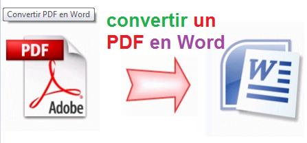 modifier un pdf en word gratuit