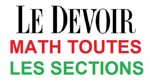 DEVOIRS DE RÉVISION MATH SEMESTRE 1 BAC TOUTES LES SECTIONS