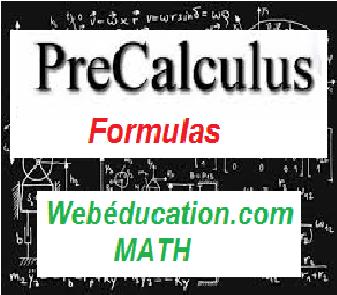 PreCalculus Formulas - Web Education