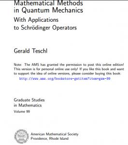 Book Mathematical Methods In quantum mechanics pdf