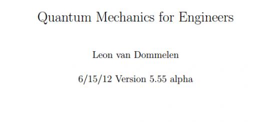 Book Quantum Mechanics for Engineers pdf