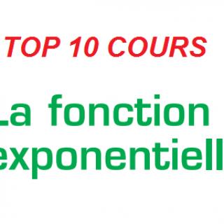 Cours la fonction exponentielle pdf