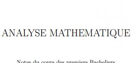 ANALYSE MATHEMATIQUE pdf