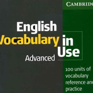 Book English Vocabulary in Use Advanced pdf