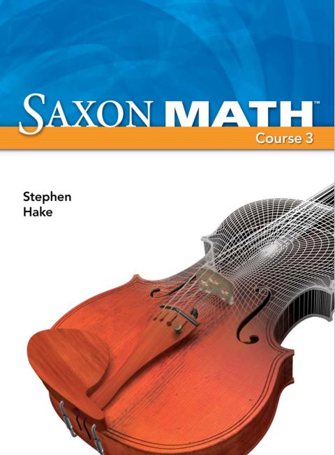 Book Saxon Math Course 3 pdf