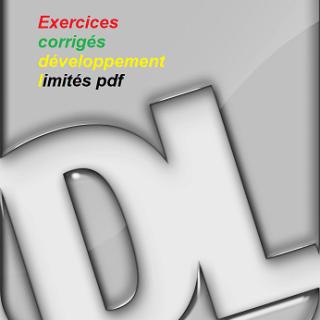 Exercices corrigés développement limités pdf