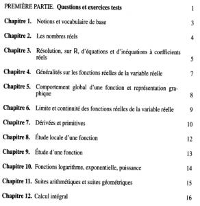 Livre Mathématiques Accès à l'université