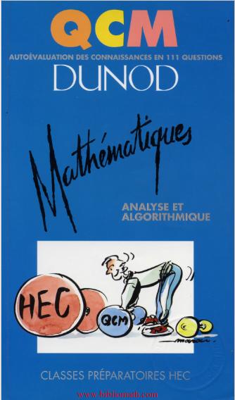 QCM de mathématiques Analyse et Algorithme pdf