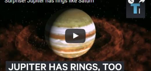 Surprise Jupiter has rings like Saturn