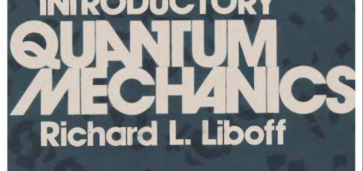 Introductory quantum mechanics by Richard Liboff pdf