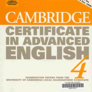 Cambridge Certificate In Advanced English pdf