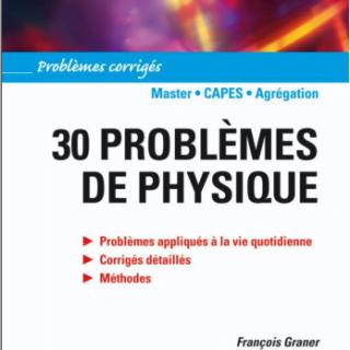 Livre 30 problèmes de physique pdf