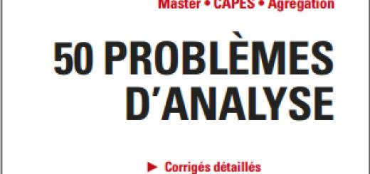 Livre 50 problèmes d'analyse pdf
