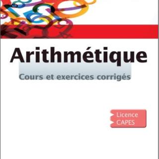 Livre Arithmétique Cours et exercices corrigés pdf