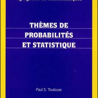 Livre Thèmes de probabilités et statistique pdf