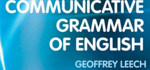 A Communicative Grammar of English by Geoffrey Leech pdf