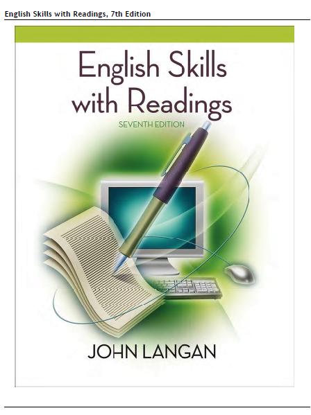 English skills with readings 7th edition: john langan: trade.