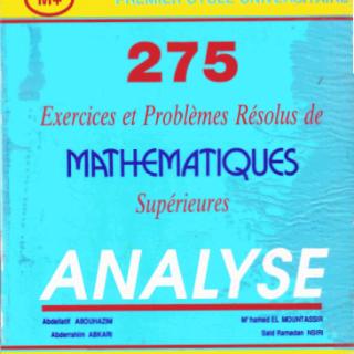 Livre 275 exercices et problèmes résolus de mathématique supérieur pdf