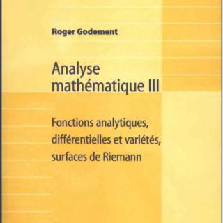 Livre Analyse mathématique III pdf