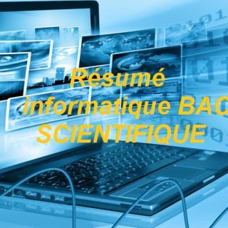 Résumé informatique BAC SCIENTIFIQUE