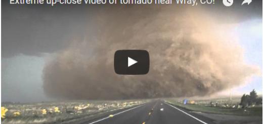 Extreme up-close video of tornado near Wray