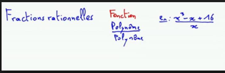 Fractions rationnelles pdf
