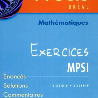 Livre Précis mathématique exercices MPSI pdf