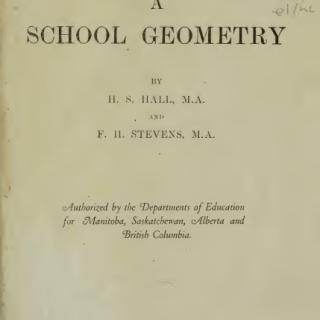 A SCHOOL GEOMETRY PDF