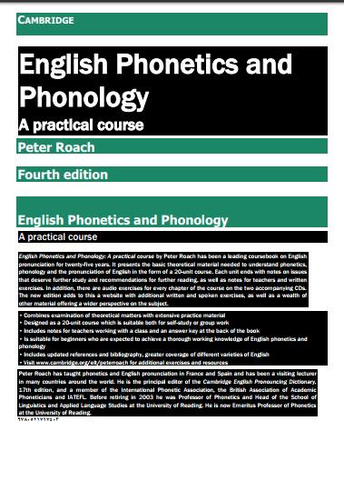 CAMBRIDGE English Phonetics and Phonology pdf - Web Education
