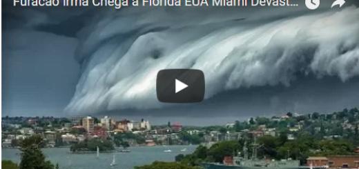Furacão Irma Chega a Florida EUA Miami Devastador 10-09-2017 Alerta Maximo