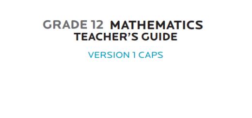 GRAdE 12 MATHEMATICS TEaCHER'S GUIDE pdf