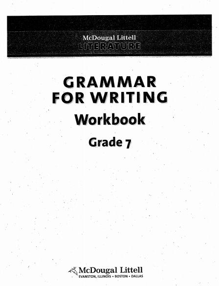 Grammar for writing workbook pdf - Web Education