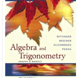 Algebra And Trigonometry Graphs And Models pdf