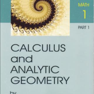 Mathematics I Calculus and analytic geometry pdf