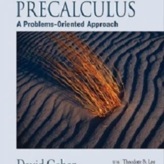 Precalculus A Problems Oriented Approach pdf