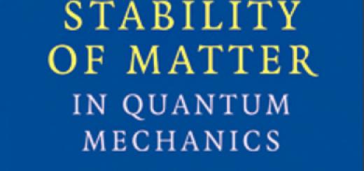 The Stability of Matter in Quantum Mechanics pdf