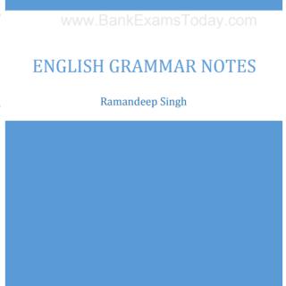 ENGLISH GRAMMAR NOTES pdf