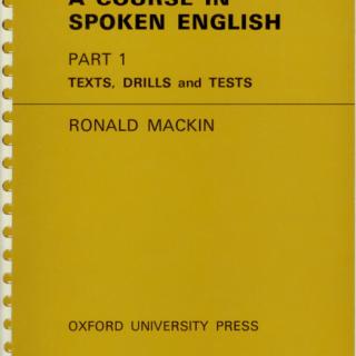 A COURSE IN SPOKEN ENGLISH pdf