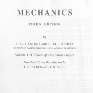 Book mechanics by Landau pdf