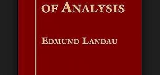 Foundation of analysis by Edmund Landau pdf
