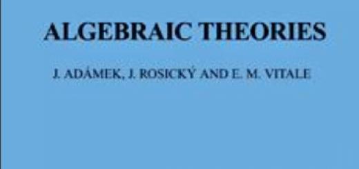 Algebraic Theories A Categorical Introduction to General Algebra pdf