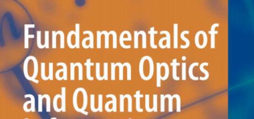 Fundamentals of Quantum Optics and Quantum Information pdf
