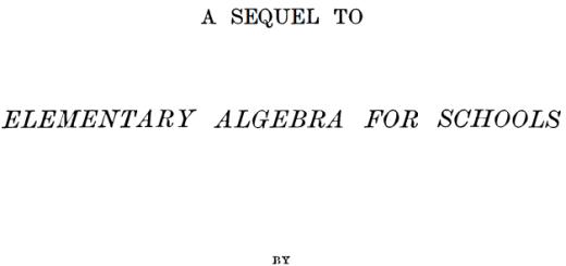 HIGHER ALGEBRA BY HALL pdf