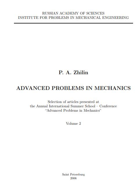 ADVANCED PROBLEMS IN MECHANICS pdf