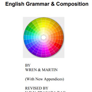 English Grammar and Composition pdf