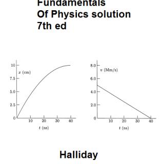 Halliday Fundamentals Of Physics solution pdf